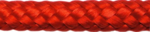 Titan 10618953 Double Braid Polypropylene Fender Line 2-Pack Red with 15-Inch Eye Splice