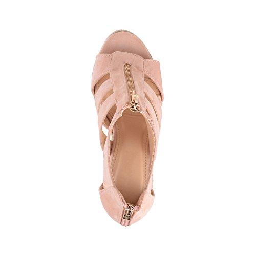 1 Elara Chaussures Pink Compensées Femme qTXwOX7