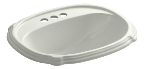 - Kohler K-2189-4-NY Vitreous china Drop-In Rectangular Bathroom Sink, 27 x 20.75 x 10.75 inches, Dune