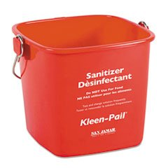 Red Sanitizing Pail (San Jamar KP196RD Kleen-Pail 6 Quart Size Red Pail Container (Pack of 12))