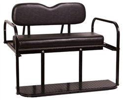 Club Car Precedent Golf Cart Rear Flip Flop Seat Kit - Color: BLACK -  PARTS Direct, SEAT-731BLK-TOP-0106