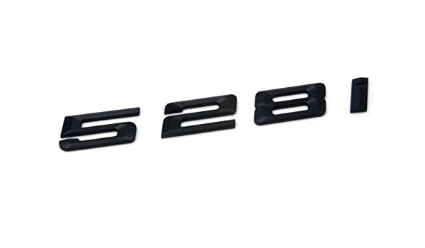 BLACK 528i REAR TRUNK LETTERS BADGE EMBLEM FOR BMW 5-SERIES E60 F10