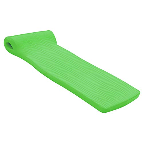 "Encore VOS Infiniti Swimming Pool Lounger for Adults and Kids | Wavy Surface Foam Water Floats for Pools, Beaches, Lakes, Water Parks, 72"" x 26"" x 1.5"", Kiwi Green"
