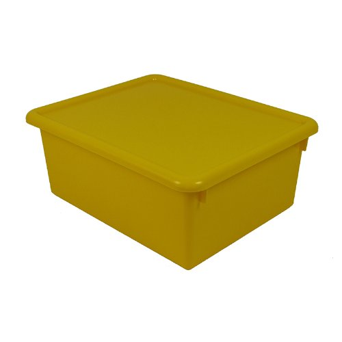 Stowaway Yellow Letter Box With Lid