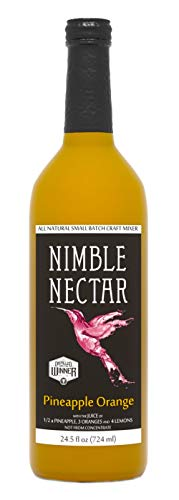 Nimble Nectar Pineapple Orange award-winning all-natural nectar for cocktails mimosas and refreshers, 8 -