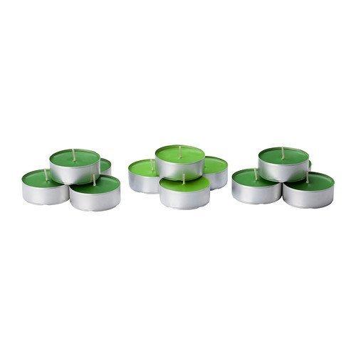 Ikea's SINNLIG Scented tealight candle, Crisp apple, green-(30 Pack) by ikea