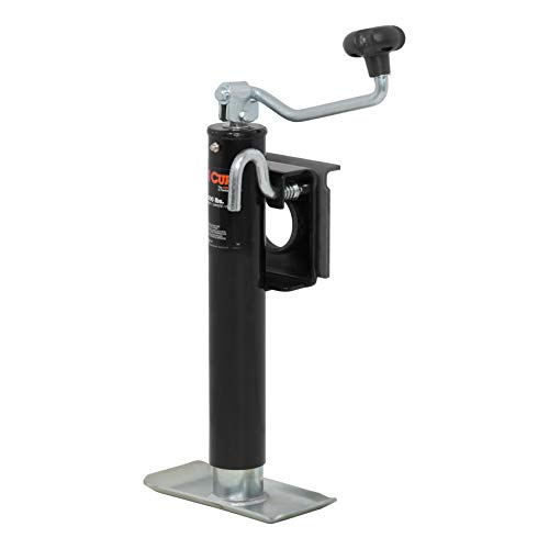 (CURT 28300 Weld-On Bracket-Style Swivel Trailer Jack 2,000 lbs, 10-1/2 Inches Vertical Travel)