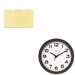 KITMIL625485UNV12113 - Value Kit - Howard Miller Kenwick Wall Clock (MIL625485) and Universal File Folders (UNV12113)