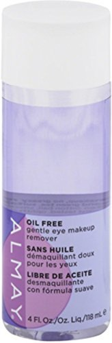 Almay Oil-Free Gentle Eye Makeup Remover Liquid, 4 ounces (Pack of 4)