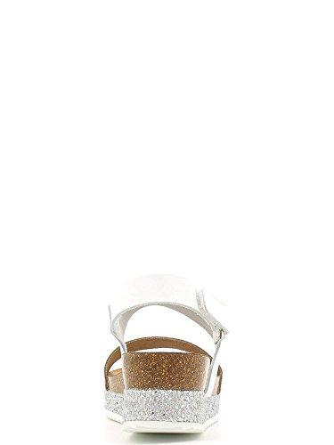 Grünland SIME SB0675 mujer negro sandalias anatómicas brillo Birk Bianco