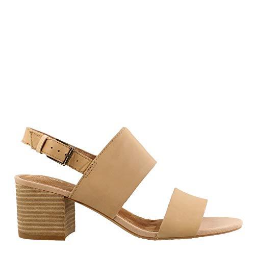 TOMS Women's, Poppy Mid Heel Sandals Honey 10 M