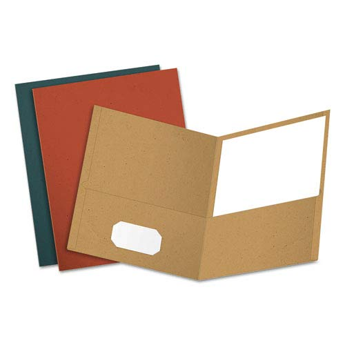 (Earthwise 100% Recycled Paper Twin-Pocket Portfolio, Assorted Colors, 25/Box, Sold as 25 Each)