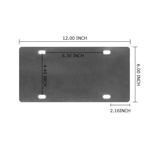 Harry Potter Pattern Custom Metal License Car Plate 12x6 Inch