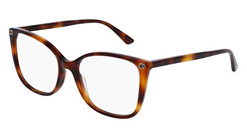 Gucci GG 0026 O- 002 002 AVANA / AVANA Eyeglasses ()