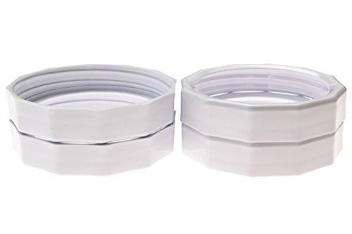 Masontops Tough Bands Rust-Proof & Reusable Mason Jar Bands - 4 Pack - Fits Any Wide Mouth Ball Kerr Bernardin Mason Jar