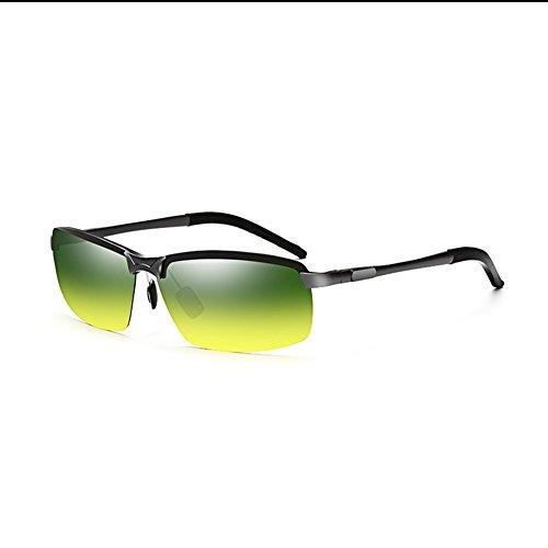 Gafas Uso Conducción De De Gafas Día QY YQ Color 2 Y Doble Gafas Sol Anti 1 Polarizadas Noche De reflejo q76wY8