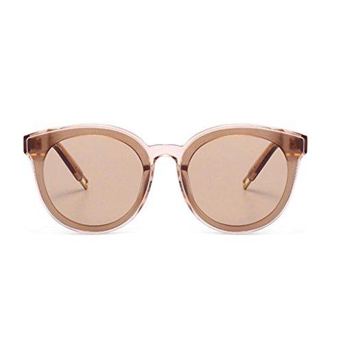 de Marrón Mujer Sol de Negro Peter Plate GM Moda Sol Color Gafas Gafas Frame Hombres Coreana HLMMM Redondas Marrón nBx80wU