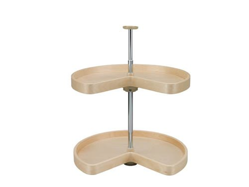 32in Kidney Banded Wood Lazy Susan 2-shelf Set by Lazy Daisy