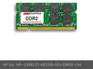 482169-001 Pavilion dv4-1317tu 2GB DMS Certified Memory 200 Pin DDR2-800 PC2-6400 256x64 CL6 1.8V SODIMM DMS Data Memory Systems Replacement for HP Inc DMS