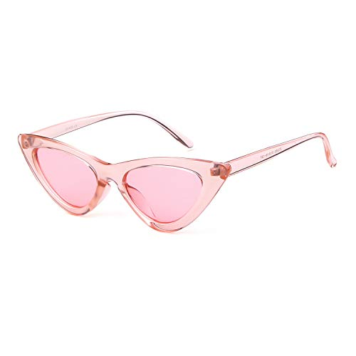 6b0ce9cb6773 Gifiore Retro Vintage Cat Eye Sunglasses for Women Clout Goggles Plastic  Frame Glasses (Black&Pink, 51): Amazon.ca: Clothing & Accessories