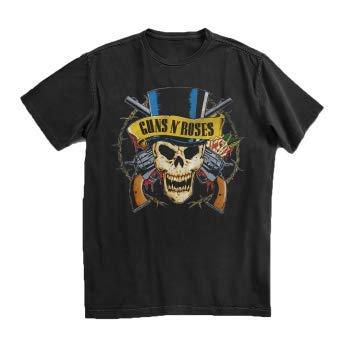 Guns N' Roses Men's Guns N' Roses Top Hat Skull T-Shirt Black MD ()