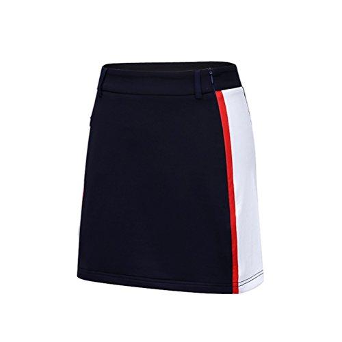 Kayiyasu スカート レディース 見せパン付き ゴルフウェア 女性用 ゴルフスカート 021-xsty-qz030(L ネイビー)