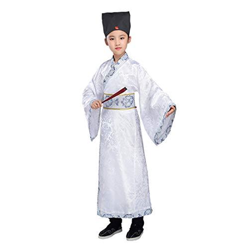 Ez-sofei Boys Kids Ancient Chinese Han Dynasty Traditional Hanfu Robe Cosplay Costume (130, -
