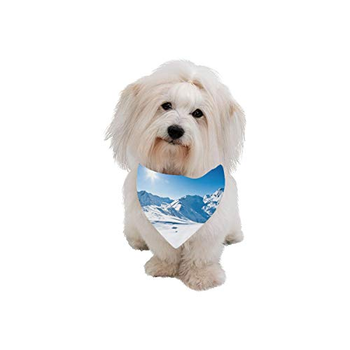 Easter Pet Dog Cat Bandana The Magnificent White Peaks Of The Snowy Mountains Are Naturally Fashion Printing Bibs Triangle Head Scarfs Kerchief Accessories For Large Dog Cat Pet Birthdays Party Gifts