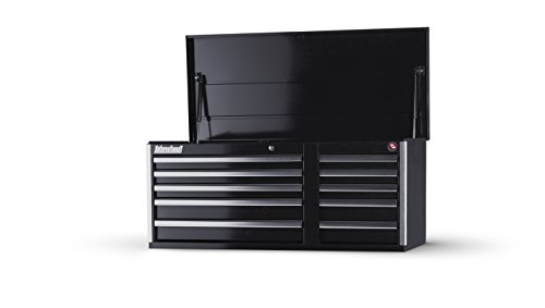 International VRT-4210BK 42-Inch 10 Drawer Black Tool Chest with Heavy Duty Ball Bearing Drawer Slides
