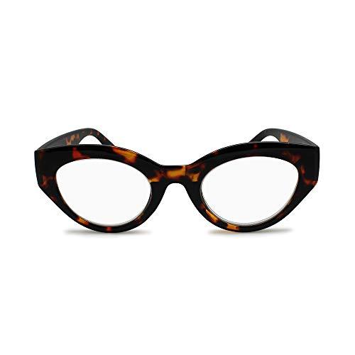 2Seelife- 1960 Retro Round Bold Frame Vintage Cat Eyeglasses Oversized Oval Frames Vintage Readers Womens Fashion Reading Glasses- Top Seller ()