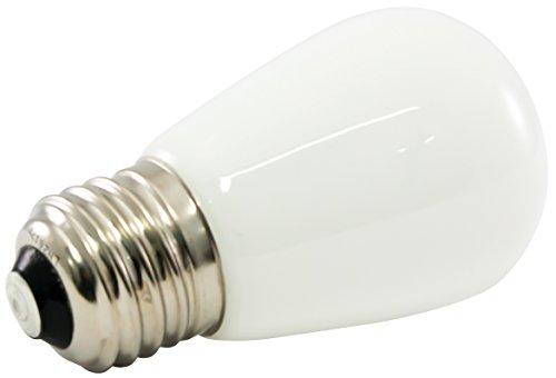 (American Lighting Dimmable LED S14 Opaque Light Bulbs, E26 Medium Base, 5500K Bright White, 25-Pack)