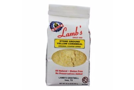 Lamb's Stone Ground Yellow Cornmeal 32oz Bag (Pack of 4)