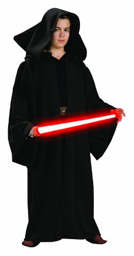 Rubies Star Wars Deluxe Hooded Sith Robe, (Child Red Hooded Robe)