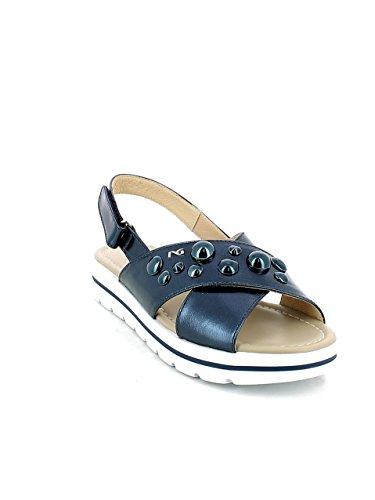 Blu Sandalo Fasciante Borchie 40 Giardini Con Nero q4TPBT