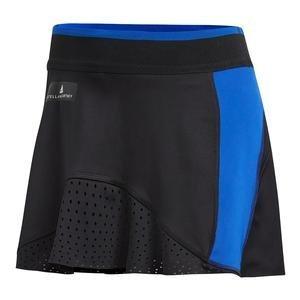 adidas by Stella McCartney Women's Barricade Tennis Skirt, Black/Bold Blue (Medium)