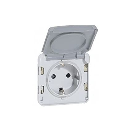 SL Legrand Enchufe de 1/Compartimento IP44/para entornos h/úmedos Modular Plexo/ /55/Gris 69575