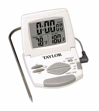 Taylor Thermometer Digital Oven - Taylor Classic Digital Oven Thermometer Meat 32 Deg F To 392 Deg F 4ft.