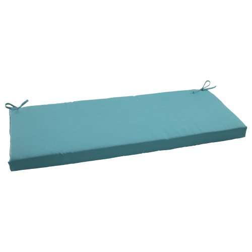 Pillow Perfect Indoor/Outdoor Forsyth Bench Cushion, Turquoise (Amazon Patio Pillows)
