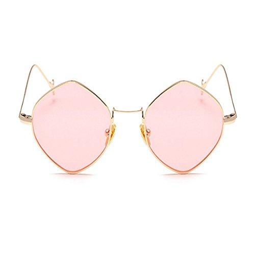 Rosa sol Marco Retro Clásico Xinvision Súper Oro Vintage Mujer ligero Moda Espejo de Metal Gafas Oscuro Señoras Gafas wBqa8I