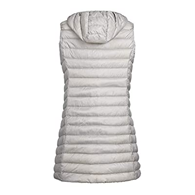 ELFJOY Women's Long Down Vest Zipper Lightweight Puffer Jackets with Hood at Women's Coats Shop