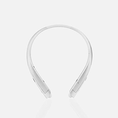 LG TONE Platinum HBS-1100 Bluetooth Wireless Stereo Headphones with Harman Kardon Sound- Silver (Renewed)