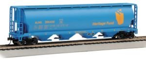 Bachmann Trains Heritage Fund 4 Bay Cylindrical Grain Hopper-Ho (Bachmann Cylindrical Hopper)