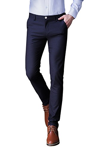 navy blue dress pants - 5
