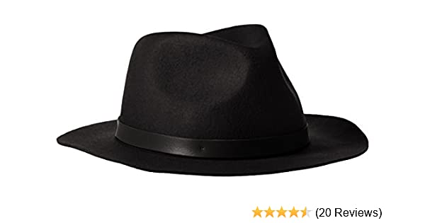 01768bf4 Phenix Cashmere Women's Short Brim Wool Felt Fedora Hat, Black, One ...