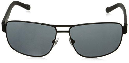 63 Sunglasses Fos3060s Mm Black Fossil Men's Rectangular Matte gray v0wWpqt