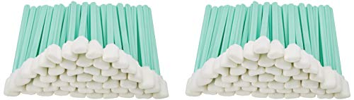 "Zetek 5"" Long 100 pcs Foam Tip Cleaning Swabs Sponge Stick for Inkjet Print head Optical Lens Gun Cleaning Solvent Resistance"