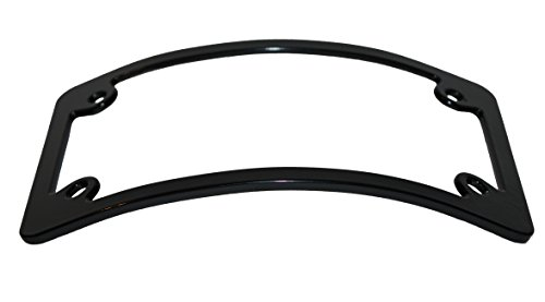 Curved Motorcycle License Plate Frame - Black | Two Wheel Tek