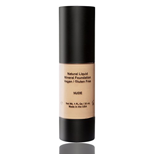 tural Vegan Gluten-Free Aloe-Based Liquid Foundation, Made in USA by BaeBlu, Nude (Best Natural Foundation)