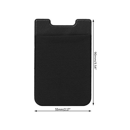 Téléphone Sur Portefeuille Grip Jiamins rouge Bâton Adhésif Portable Noir Autocollant Retour Carte Sqd71