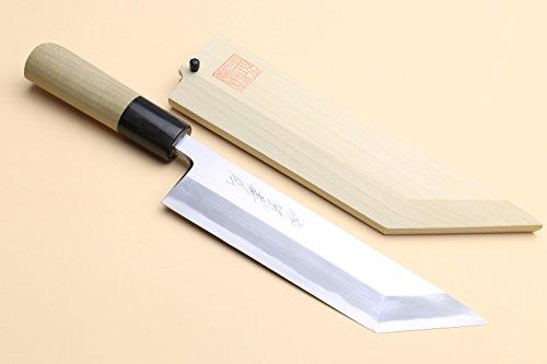 "Yoshihiro Shiroko High Carbon Steel Kasumi Edosaki Japanese Eel Fillet Chef Knife 7""(180mm)"